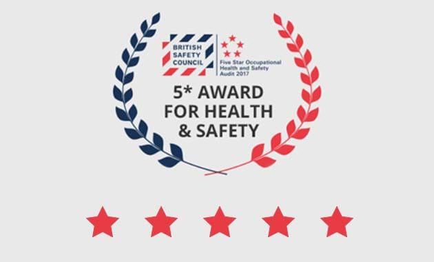 Five Star Status from the British Safety Council