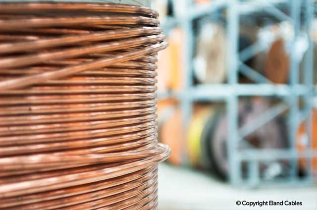 Reels of metal copper cable