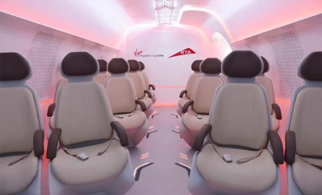 RTA Virgin Hyperloop One Commuter Pod Interior
