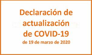 Declaración De COVID 19 De 19 De Marzo De 2020