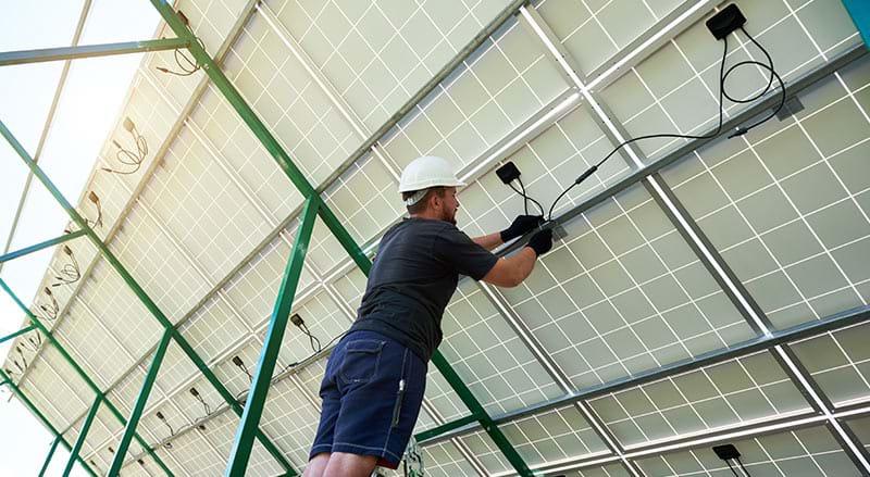 Solar farm cables